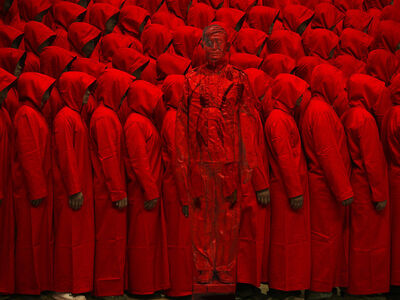 Liu Bolin, 'Hiding in the City - Red No. 2', 2012