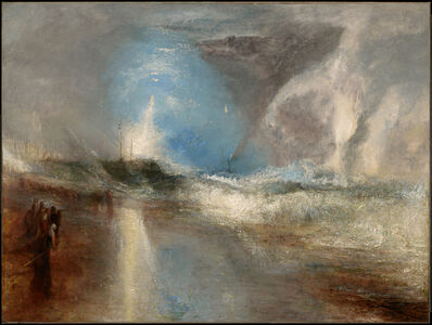 J. M. W. Turner, 'Rockets and Blue Lights (Close at Hand) to Warn Steamboats of Shoal Water', 1840