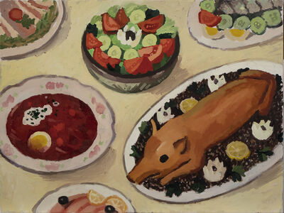 Zoya Cherkassky-Nnadi, 'Rrissian Dish', 2019