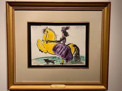 Pablo Picasso, 'Woman Rider on Horse', 1959