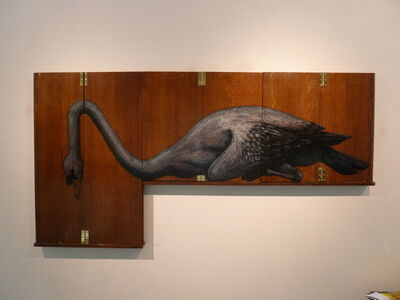 ROA, 'CYGNUS MMXVIII (Swan)', 2018