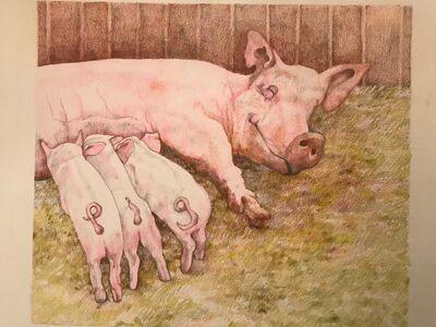 Laura Broaddus Hexner, 'Pig', 2019