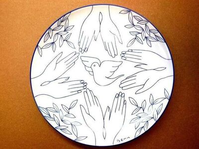 Ben Benn, 'Dove of Peace Limoges plate', 1960-1969