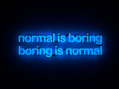 Mary Jo McGonagle, 'Normal is boring', 2018