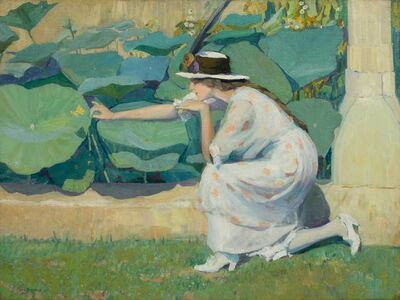 Jane Peterson, 'Lure of the Butterfly', ca. 1914