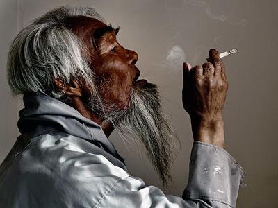Henrik Saxgren, 'Aggu Smoking', 2016