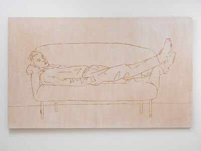 Stephan Balkenhol, 'Man on Couch', 2019