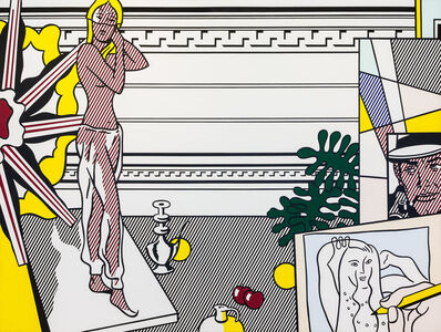 Roy Lichtenstein, 'Artist's Studio with Model,', 1974