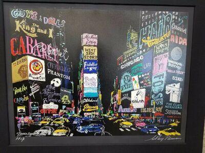 LeRoy Neiman, 'Times Square', 2001