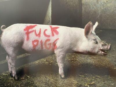 "Steve Lazarides, 'STEVE LAZARIDES ""FUCK PIGS' HAND SIGNED EDITION', 2018"