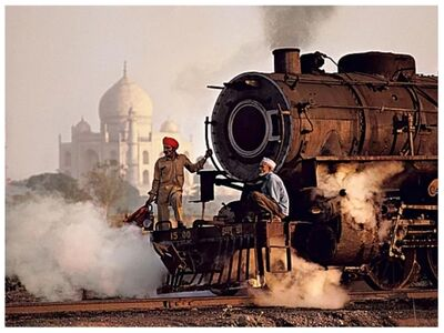 Steve McCurry, 'Taj Mahal & Train', 1983