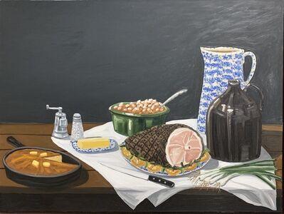 David Bates, 'Ham Dinner', 1980-1989