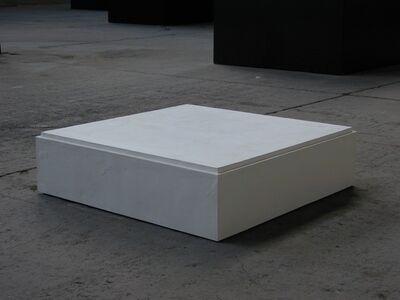 Didier Vermeiren, 'Plâtre, 1990, soccle du musée Rodin, Meudon supportant une étude pour le monument de Balzac', 1990