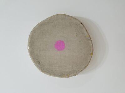 Otis Jones, 'Gray with One Magenta Circle', 2018