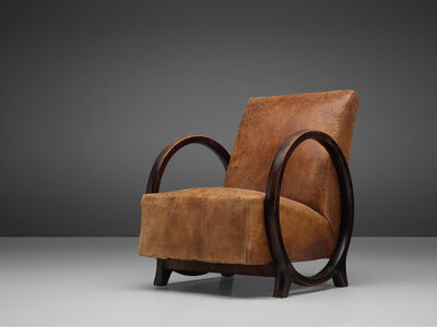 Jacques Adnet, 'Rare Armchair by Jacques Adnet in Original Leather', ca. 1930