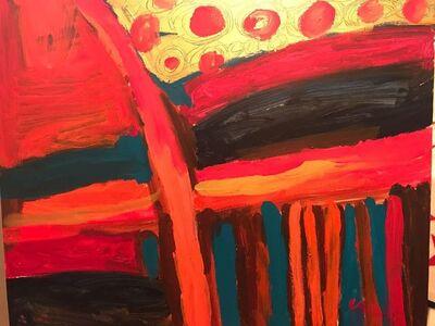 Maryam Alakbarli, 'Abstraction aux teintes rouge-jaune.', 2017