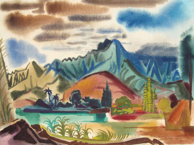 Ben Norris, 'Hawaiian Landscape Composition I', 1950