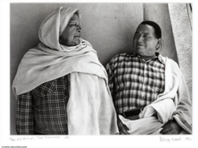 Nancy Wood, 'Two Old Friends, Taos Pueblo, NM', 1986