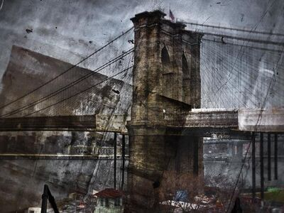 Abelardo Morell, 'Tent-Camera Image on Ground: Rooftop View of the Brooklyn Bridge, Brooklyn Side', 2011