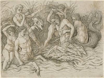 Andrea Mantegna, 'Battle of the Sea Gods [right half]', ca. 1485/1488