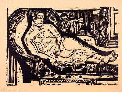 Ernst Ludwig Kirchner, 'Liegende Frau auf Sofa (Reclining Woman on a Couch)', 1926