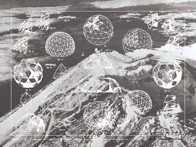 R. Buckminster Fuller, 'Laminar Geodesic Dome, From Inventions Portfolio, Edition 44 of 60', 1981