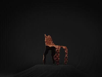 Trent Jansen and Johnny Nargoodah, 'Ngumu Janka Warnti (All Made from Rubbish) Chair (Brown)', 2020
