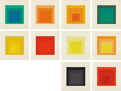 Josef Albers, 'Homage to the Square: Edition Keller Ia-Ik', 1970