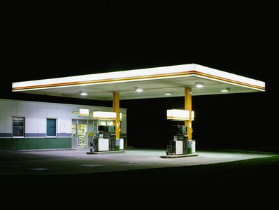 Ralf Peters, 'Petrol Stations (White, Brown)', 1998