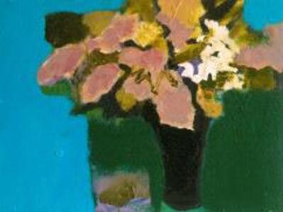 Jennifer Hornyak, 'Manganese Blue with Pink Petals', 2017