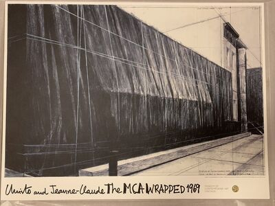 """Christo and Jeanne-Claude, 'The MCA """"Wrapped"""" 1969 Christo & Jeanne-Claude Exhibition Poster Contemporary', 1969"""