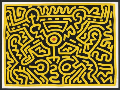 Keith Haring, 'Plate IV, from Growing Suite', 1988