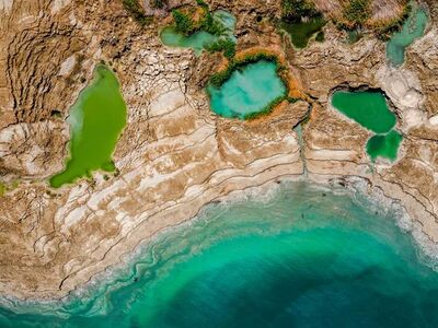 Dinesh Boaz, 'Pools of Life, Dead Sea-Israel, Helicopter', 2019