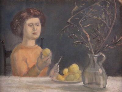 Alvin Ross, 'Girl Holding Pear', 1955