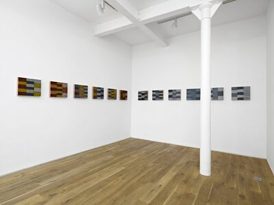 Sean Scully, ''Twelve Triptychs'Installation view of the solo exhibition 'Sean Scully: Iona', Ingleby Gallery, Edinburgh (April - June 2010)', 2008