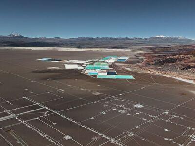 Edward Burtynsky, 'LITHIUM MINES #2 SALT FLATS, ATACAMA DESERT, CHILE, 2017 Edition: 1/9', 2017