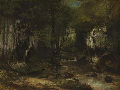 Gustave Courbet, 'The Stream (Le Ruisseau du Puits-Noir; vallée de la Loue)', 1855