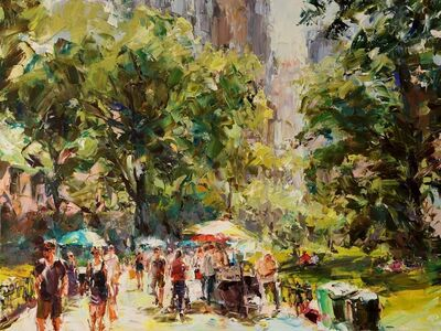 Lyudmila Agrich, 'Summer in Central Park', 2018