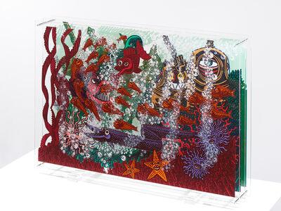 "Hervé Di Rosa, 'original silksreen on plexiglass ""Aquarium""', 2016"