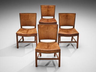 Kaare Klint, 'Kaare Klint for Rud Rasmussen Set of Four 'Red Chairs' in Original Leather', 1927