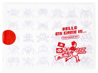 Invader, 'HELLO MY GAME IS POSTCARD SET', 2017