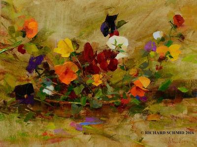 Richard Schmid, 'April Pansies'