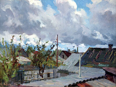 Mikhail Mitrofanovich Yesin, 'Roofs', 1974