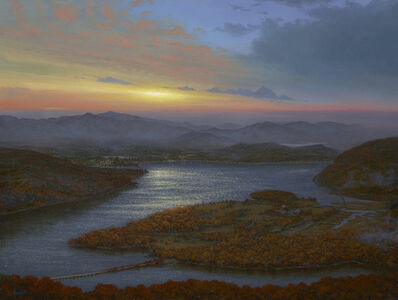 Ken Salaz, 'Sunrise Over Iona Island from Bear Mountain, 2019', 2019