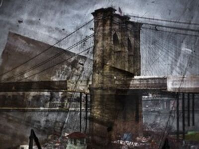 Abelardo Morell, 'Rooftop View of The Brooklyn Bridge', 2011