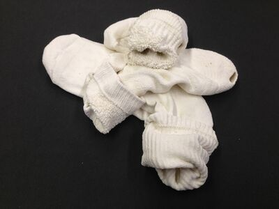 Beth Campbell, 'Holed socks', 2014