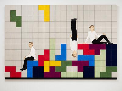 Stephan Balkenhol, 'Tetris Triptych', 2019