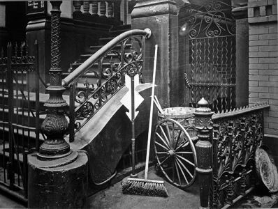Brett Weston, 'Stairway with Broom, New York City', 1945