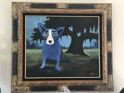 George Rodrigue, 'Blue Dog on Guard', 1994