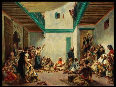 Pierre-Auguste Renoir, 'The Jewish Wedding in Morocco (after Delacroix)', about 1875